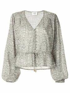 Suboo Sylvie balloon sleeve button blouse - Grey