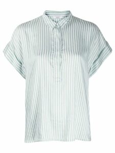 Peserico striped concealed button blouse - Green
