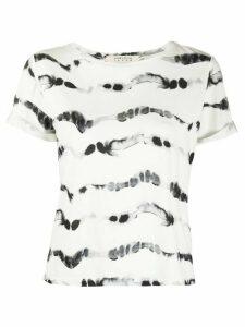 Alice+Olivia tie-dye print T-shirt - White