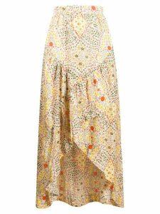 Ba & Sh Hall floral print maxi skirt - NEUTRALS