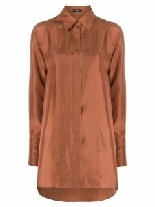 Joseph oversized point-collar shirt - NEUTRALS