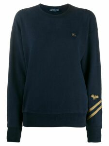 Polo Ralph Lauren embroidered monogram cotton sweatshirt - Blue