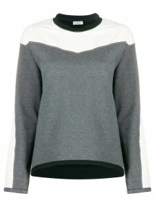 Brunello Cucinelli panelled crew-neck sweatshirt - Grey