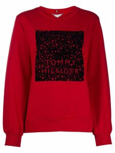 Tommy Hilfiger graphic-print long-sleeved sweatshirt - Red