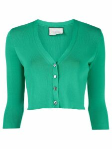 Alexis Petal cropped cardigan - Green