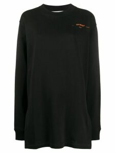Off-White coral-embroidered oversized jumper - Black