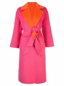 Alice+Olivia oversized colour-block coat - PINK