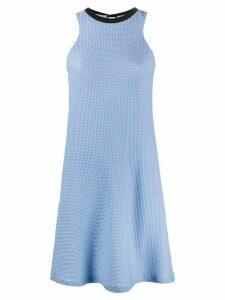 Fisico sleeveless tie-back dress - Blue