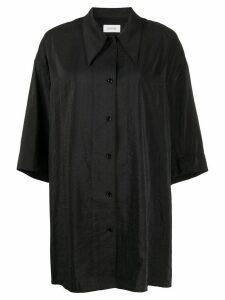 Lemaire satin boyfriend shirt - Black