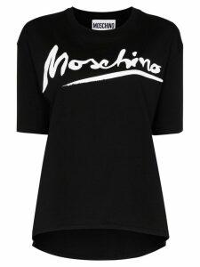 Moschino logo-print T-shirt - Black