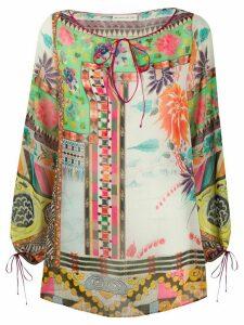 Etro geometric floral blouse - NEUTRALS