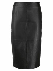 P.A.R.O.S.H. fitted leather skirt - Black