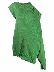 Marni asymmetric deconstructed jumper - Green