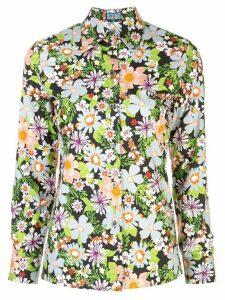 Lhd Star Island floral print shirt - Black