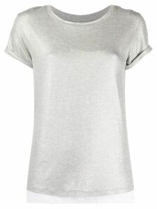 Majestic Filatures metallic layered T-shirt - Grey