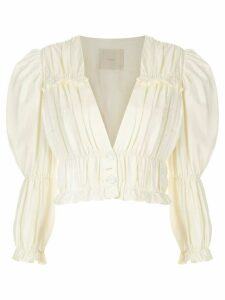 Framed Greta long-sleeved blouse - White