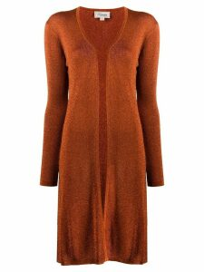 Temperley London metallic open-front cardigan - ORANGE