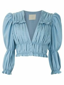 Framed Greta long-sleeved blouse - Blue