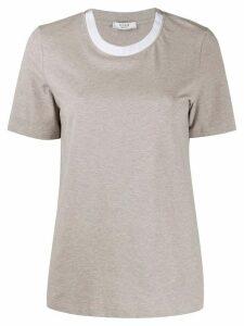 Peserico contrast collar T-shirt - NEUTRALS