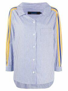 SJYP band detail striped shirt - Blue