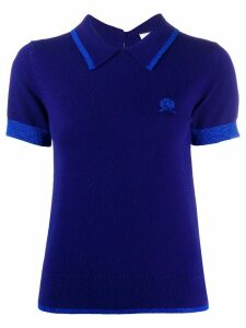 Hilfiger Collection knitted crest logo polo shirt - Blue