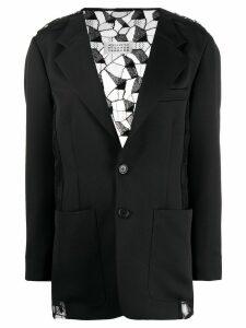 Maison Margiela lace-back blazer - Black