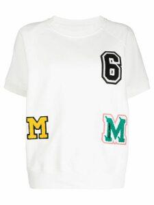 Mm6 Maison Margiela patchwork T-shirt - White