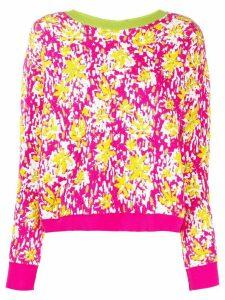 Marni back buttoned floral jumper - PINK