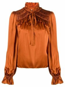 Temperley London Birdie ruffled blouse - ORANGE