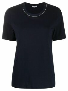 Peserico silk collar T-shirt - Blue