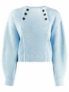 Rebecca Minkoff Natalie buttoned-bib sweater - Blue