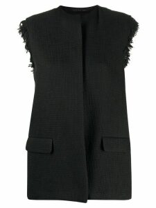 Federica Tosi collarless sleeveless jacket - Black