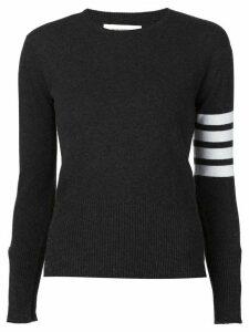 Thom Browne striped sleeve sweater - Grey