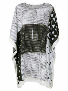 Amir Slama fringed short dress - White