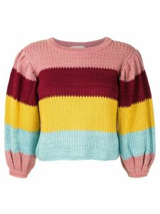 Framed Colours knit cropped top - Multicolour