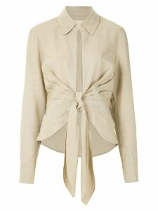 Framed Maya draped shirt - NEUTRALS