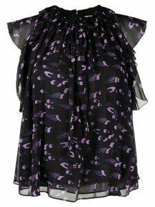 Temperley London Ethel ruffled blouse - PURPLE