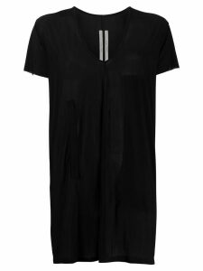 Rick Owens oversized u-neck T-shirt - Black