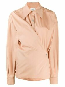 Lemaire wrap front cotton shirt - NEUTRALS
