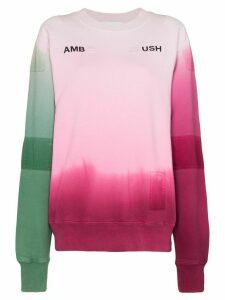 AMBUSH tie-dye pattern sweatshirt - PINK