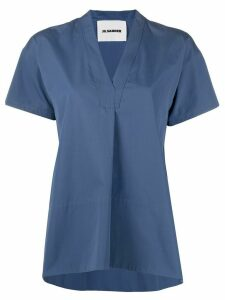 Jil Sander v-neck loose blouse - Blue