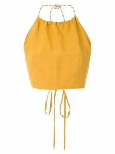 Framed Nassau cropped top - Yellow