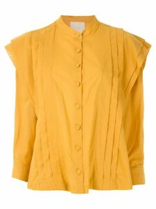 Framed Fleur long-sleeved shirt - Yellow