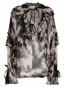 Redemption ruffle trim blouse - PINK