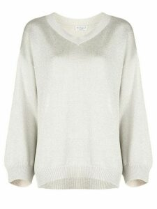 Brunello Cucinelli relaxed fit V-neck jumper - White