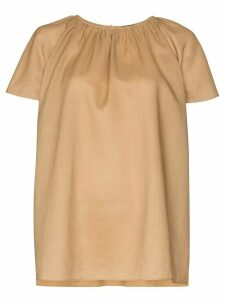 Joseph Deb gathered blouse - NEUTRALS
