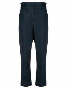 Aspesi paperbag-waist tapered trousers - Blue