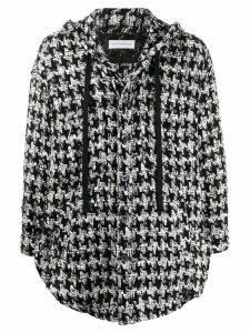 Faith Connexion oversized hooded shirt jacket - Black