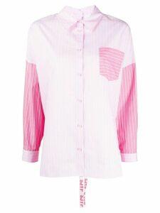SJYP striped ruched-back shirt - PINK