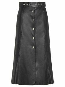 Prada a-line buttoned midi skirt - Black